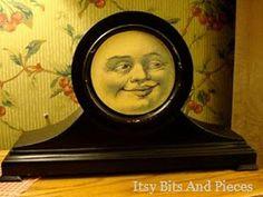just love this 'manin the moon' old clock makeover!  http://2.bp.blogspot.com/-UZdAQfmDKxg/T7_kCiIuvvI/AAAAAAAAG1o/6T5M6QTxwH8/s1600/project-moon.jpg