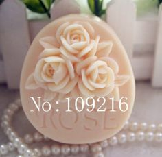 Creativemoldstore 1pcs Three Rose (zx32) Craft Art Silicone Soap Mold Craft Molds DIY Handmade Soap Mould * You can get additional details at the image link.