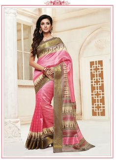 pink-cotton-silk-printed-casual-wear-saree-