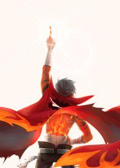 Kamina Tenge topa gurren lagann by white__monkey All Anime, Anime Manga, Anime Art, Anime Boys, Kill La Kill, Mobile Wallpaper, Gurren Lagann Kamina, Neko, Gurren Laggan
