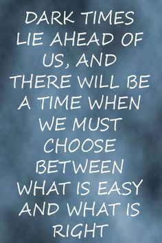 Harry Potter Quote.....US..as in U.S. - Americans must choose between what is easy and what is right....hint: what is easy won't think twice about killing you.