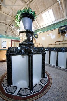 The world's most beautiful loos Victorian Urinals, Victorian Era, Isle Of Bute, Wet Rooms, Crystal Palace, World's Most Beautiful, White Enamel, Glasgow, Oasis