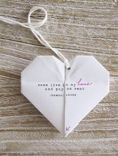 Valentine origami - easy tutorial!  My husband and oldest son used to LOVE origami projects!  :)