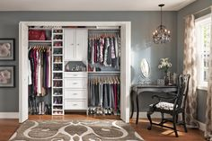 Create storage space that you never knew you had with a customizable ClosetMaid closet organizer kit. #Closet #Storage #Organization Interior Barn Doors, Contemporary Interior Doors, Internal Sliding Doors, Sliding Wardrobe Doors, October, Indoor, Closet, Room, Openness