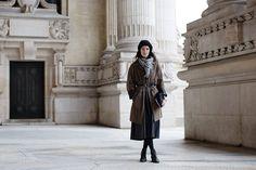 On The Street…. Rue De Lobau, Paris  #Hats #Scarves #Skirts