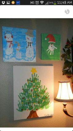 Kids Christmas paintings