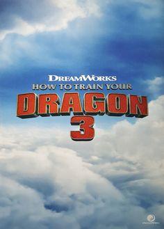 Affiche officielle de How to train your Dragon 3 à la LICENSING INTERNATIONAL EXPO 2016 (salon des licences de marques). Source : https://chocolateboxthatlife.tumblr.com