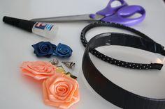 DIY - Fabric flower hair bands