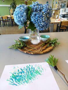 reggio inspired nature painting Reggio Art Activities, Reggio Emilia Preschool, Reggio Emilia Classroom, Reggio Inspired Classrooms, Preschool Art, Reggio Emilia Approach, Early Childhood Activities, Toddler Classroom, Toddler Art