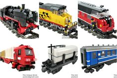 Lego Custom Train Collection PDF Instructions City Steam Locomotive Cargo | eBay