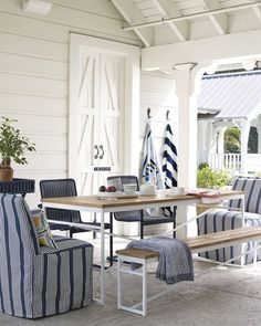 Beach Cottage Style, Coastal Cottage, Coastal Style, Coastal Living, Nantucket Cottage, Coastal Decor, Outdoor Rooms, Outdoor Dining, Outdoor Furniture Sets