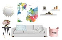 """basic home"" by azra-dzanic89 on Polyvore featuring interior, interiors, interior design, Zuhause, home decor, interior decorating, Gus* Modern, Home Decorators Collection, Allem Studio und WALL"