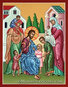 Jesus Blesses the Children by Monastery Icons, via Flickr