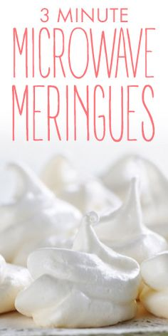 No whisk, microwave meringues? Get this great hack when you watch this video. Microwave Dishes, Microwave Baking, Microwave Recipes, Microwave Cookies, Mug Recipes, Candy Recipes, Baking Recipes, Sweet Recipes, Meringue Cookies