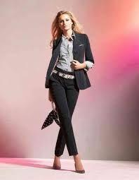 Trajes para mujer. Traje pantalón para mujer. Outfits de oficina para mujer. Cómo vestir en el trabajo para mujeres.
