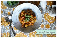 Sweet Potato and Chickpea Tagine... this sounds so warm and delicious for the winter months. /ES