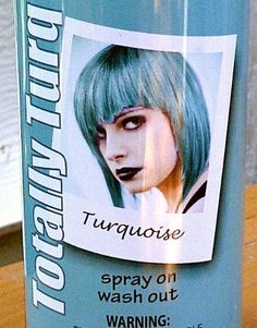 169cd36482f Temporary Hair Color Hairspray Turquoise Aqua Ice Blue Sky Colored  Hairspray Great For Costume or Halloween Rave Party Concert Hair Spray Use  in ...