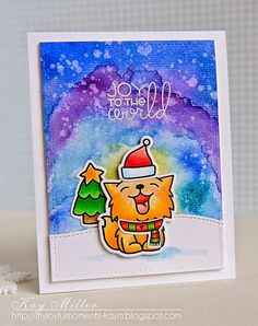 My Joyful Moments: Merry Monday Guest Designer - Love the Watercolor Background