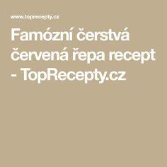 Famózní čerstvá červená řepa recept - TopRecepty.cz