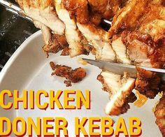 Chicken Doner Kebab at Home! Chicken Doner Kebab at Home! Doner Kebabs, Shish Kebab, Chicken Doner Kebab Recipe, Chicken Recipes, Donair Recipe, Turkish Chicken, Great Recipes, Favorite Recipes, Chicken