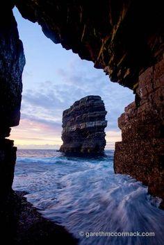 Dun Briste from Downpatrick Head sea cave, Co Mayo, Ireland