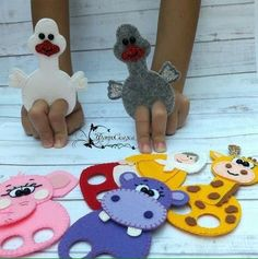 Развивающие игры из фетра Felt Puppets, Puppets For Kids, Felt Finger Puppets, Kids Crafts, Felt Crafts, Finger Puppet Patterns, Sewing Projects, Craft Projects, Felt Projects