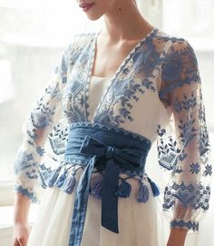Super love this sheer blue outfit on white tank top. Looks casual, elegant & perfect for tropical Indonesia. Pretty Outfits, Pretty Dresses, Beautiful Outfits, Elegant Dresses, Fashion Details, Fashion Design, Fashion Trends, Fashion Quiz, Fashion Hacks