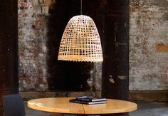Bamboo-cloche pendant from Russell Koskela, Australia