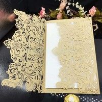 [Product] wedding invitations with Single-layer Blank Inside Pages [Material] engraved paper, double