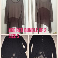 BKE red bundle of 2 No stains no rip. BKE red tops both size S BKE Tops
