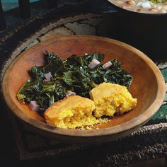 If there is only one argument to make for the healthfulness of Southern food, it's the variety and sheer amount of leafy greens. I prefer kale, but mustard, turnip and collards all have their champions, and many cooks mix them.