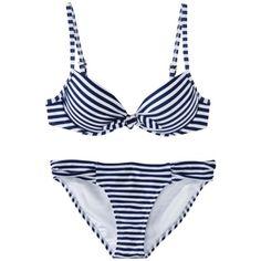 Xhilaration® Juniors Stripe 2-Piece Bikini Swimsuit