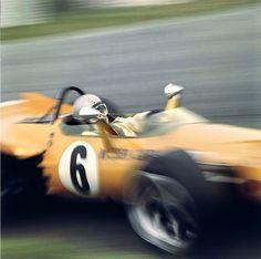 Bruce McLaren on McLaren M7C at Silverstone [1969]