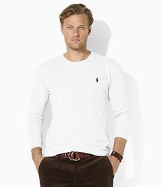 Polo Ralph Lauren Medium-Fit Long-Sleeve Cotton Jersey Crewneck T-Shirt | Dillard's Mobile