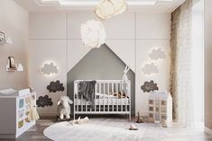 Apartment in Moscow, Russia, 2018 on Behance Kids Bedroom Designs, Bedroom Bed Design, Playroom Design, Baby Room Design, Baby Bedroom, Baby Boy Rooms, Design Hall, Small House Interior Design, Villa