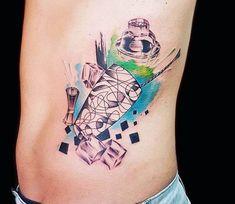 Shaker tattoo by Ilaria Tattoo Art Tattoo Bar, Fox Tattoo, Large Tattoos, Hand Tattoos, Tattoo Sleeve Designs, Sleeve Tattoos, Watercolor Tattoo Sleeve, Dibujos Tattoo, Coffee Tattoos