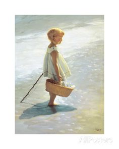 Young Girl on a Beach Posters by I. Davidi at AllPosters.com