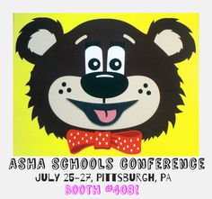 Come MEET TEDDY! ASHA Schools Conference - July 25–27, 2014  David L. Lawrence Convention Center Pittsburgh, PA - BOOTH #408 #asha #slp #slpeeps #speechtherapy #speechies