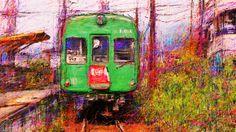 PCペイントで絵を描きました! Art picture by Seizi.N:   僕の故郷の話をしょう、どこかで聞いた様な歌詞と思いますが、僕の故郷熊本の絵の話をしょうに変えて、熊本は路面電車にローカル鉄道車両が多い町です、この絵は北熊本と上熊本を走るローカルの通る町の風景をお絵描きしました。  JULEE CRUISE - FLOATING INTO THE NIGHT (Full Album + Bonus) http://youtu.be/Cixs8LCHwX4