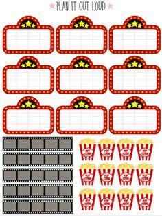 Movie stickers (Erin Condren planner stickers)