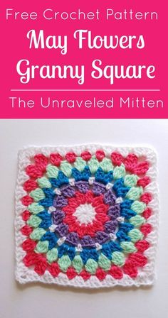 May Flowers Granny Square Free Crochet Pattern