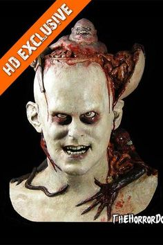 The Victim Collector is a halloween mask offered by the experts at the Horror Dome. Find this and more halloween masks here! Zombie Mask, Scary Mask, Horror Costume, Scary Costumes, Mascaras Halloween, Halloween Masks, Bloody Halloween, Haunted Carnival, Porcelain Dolls For Sale