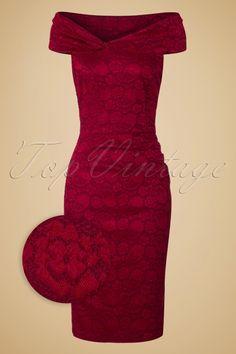Vixen Maisie Red Lace Pencil Dress 100 20 19446 20160914 0002WV