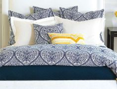 Update your master bedroom with the Adelle Bedding collection- looks great in both traditional and contemporary rooms.