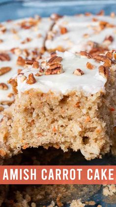 Tired of Amish Friendship Bread? Use sourdough starter to make Amish Friendship Carrot Cake. With cream cheese frosting, it's full of carrots and coconut. Friendship Cake, Friendship Bread Recipe, Friendship Bread Starter, Amish Friendship Bread, Amish Bread Recipes, Banana Bread Recipes, Cake Recipes, Dessert Recipes, Dutch Recipes