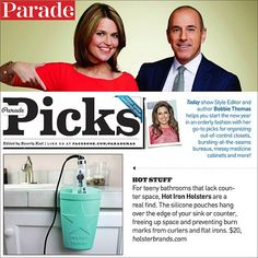 """#tbt to last Sunday when we were featured in @parademagazine as one of Bobbie Thomas's """"go-to picks for organizing"""" - check out all the fresh colors at HolsterBrands.com #thanksbobbie #bobbiethomas #parademagazine #hotironholster"""