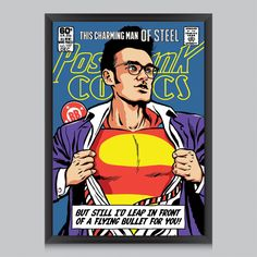 This Charming Man Of Steel Poster by Butcher Billy | #poster #radbag #wandkunst #wallart #print