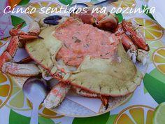 Cinco sentidos na cozinha: Sapateira recheada simples - petiscos de Verão