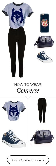 """""""Untitled #89"""" by lghedger on Polyvore featuring River Island, Converse and Casetify"""