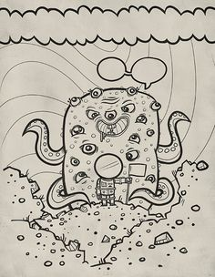 coloring page by jublin, via Flickr